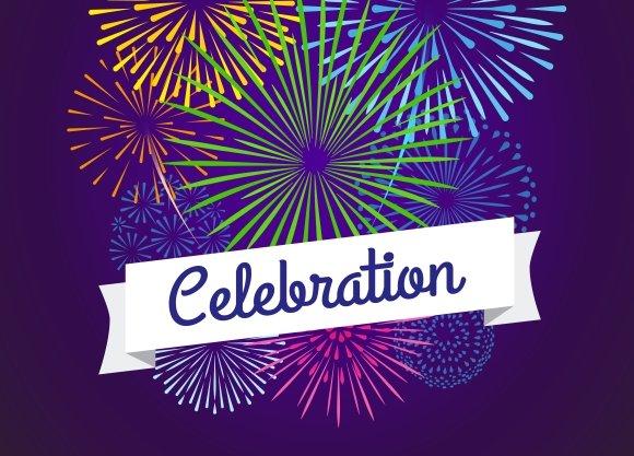 Fireworks celebration card template