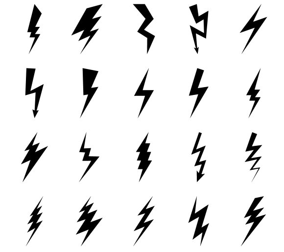 Lightning bolt icons in Graphics
