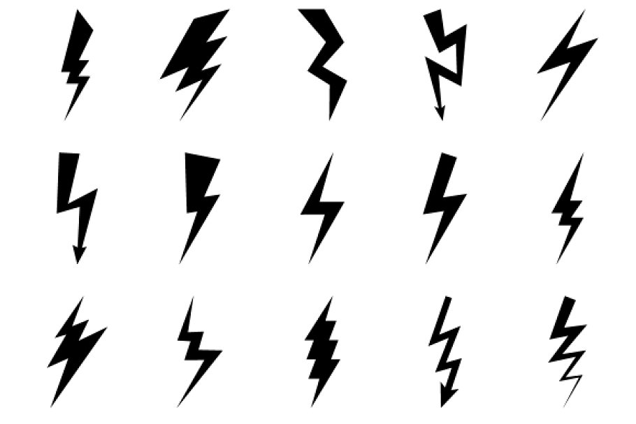 Lightning bolt icons in Graphics - product preview 8