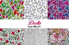 Doodles. Seamless Patterns Set 1