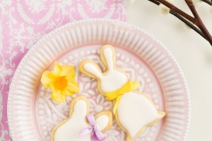 Easter bunny sugar cookies