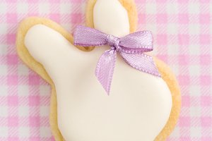 Easter bunny sugar cookie