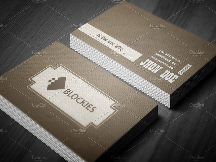 Retro style business card template business card for Retro business card template