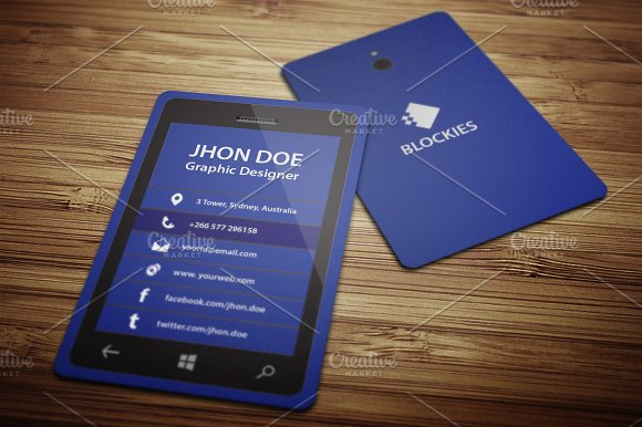 Smart phone business card template business card templates smart phone business card template business card templates creative market accmission Choice Image