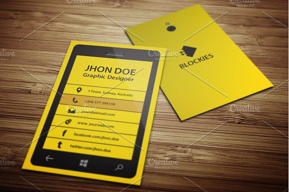 Smart Phone Business Card Template