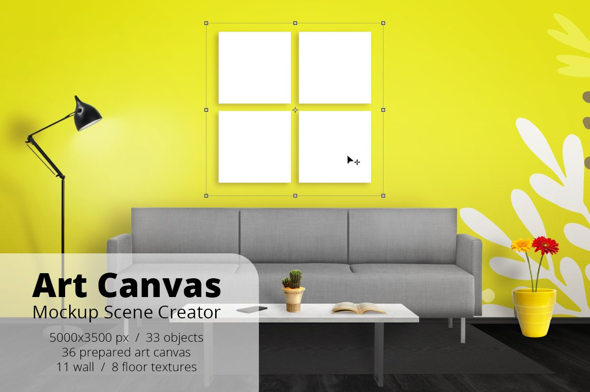 Art Canvas Mockup Scene Creator ~ Product Mockups ~ Creative Market