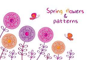 Spring flowers & pattern.