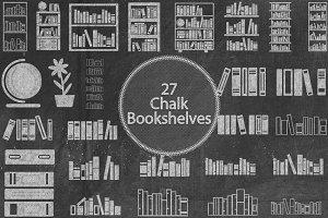 Chalk Bookshelves