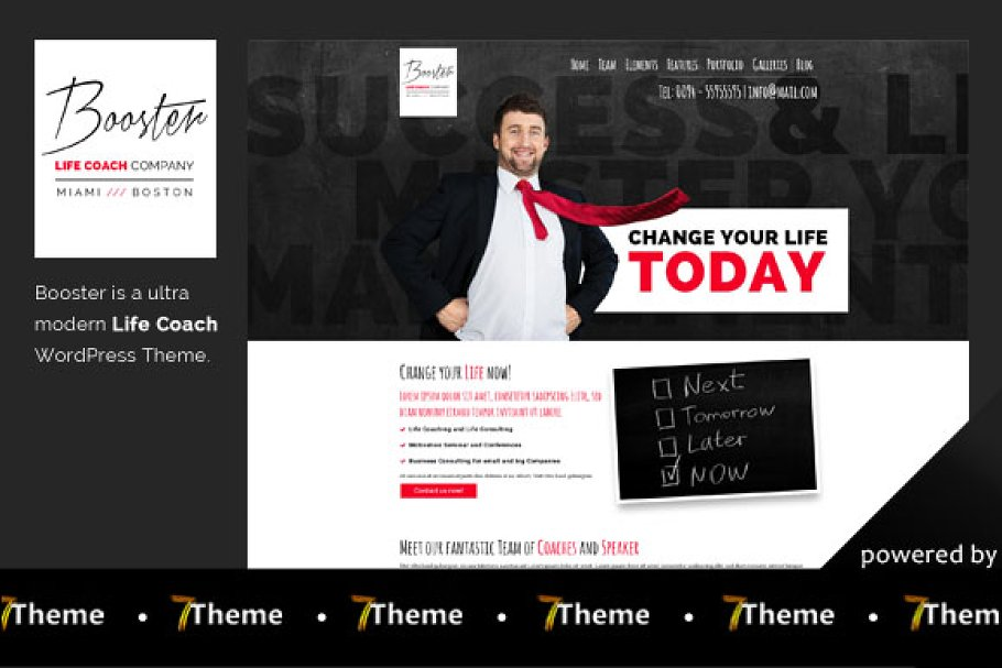 Booster - Life Coach WP Theme