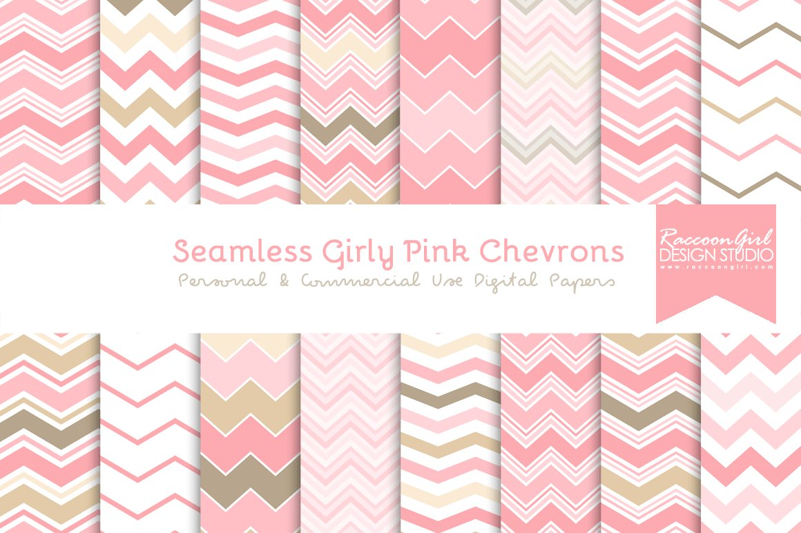 seamless girly pink chevrons graphic patterns creative market