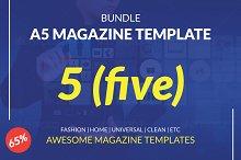 BUNDLE | A5 Magazine Template