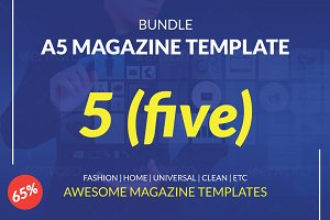 BUNDLE | A5 Magazine Template