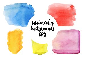Watercolor vector backgrounds