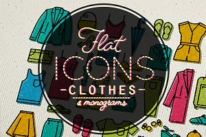 Flat clothes icons