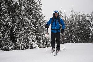 Ski touring man