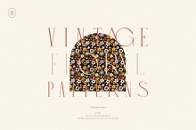 Vintage Floral Patterns Collection by  in Graphics