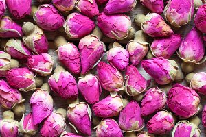Dry rose buds background