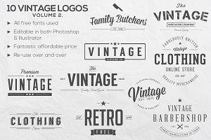 Vintage Logos Vol. 2