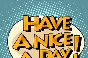 have a nice day comic bubble