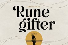 Runegifter - Modern font by  in Fonts
