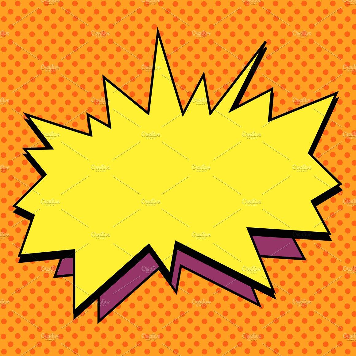 Explosion Comic Bubble Retro Illustrations Creative Market