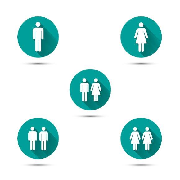 Men And Women Couples Symbols Icons Creative Market