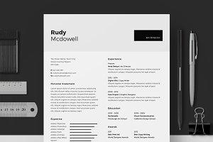 Resume/CV - Rudy Mcdowell