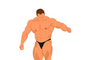 Bodybuilder, vector illustration