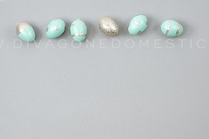 Styled Photo Aqua Spring Easter Eggs