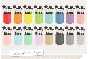 Makeup Brush Canister Clipart
