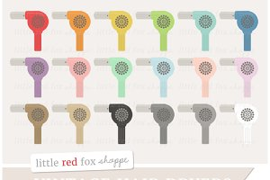 Vintage Hair Dryer Clipart