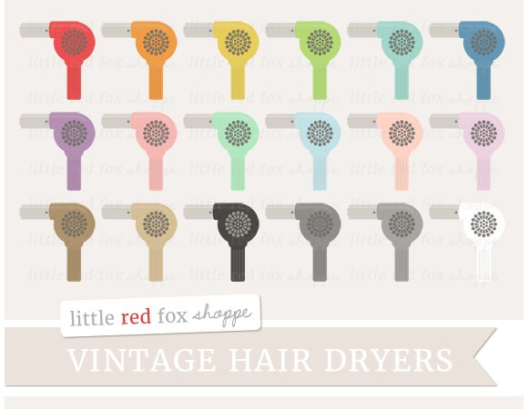 Vintage Hair Dryer Clipart ~ Illustrations on Creative Market