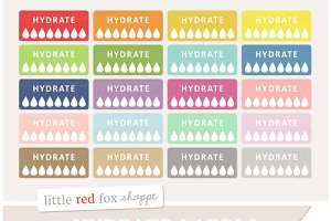 Hydrate Label Clipart