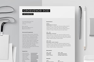 Resume/CV - Grosvenor Rod