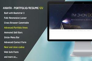 Axiata - Responsive Portfolio/Resume