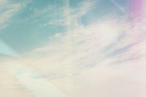 Retro Sky and Clouds II