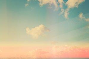 Retro Sky and Clouds I