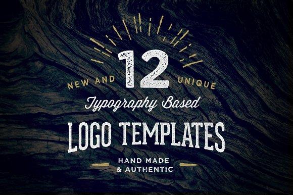 12 Typography Based Vintage Logos