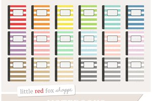 Striped Notebook Clipart