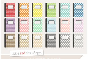 Polka Dot Notebook Clipart