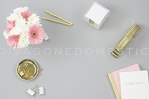 Styled Photography - Gray Gold Pink