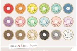 Sprinkle Donut Clipart