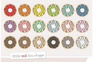 Swirl Donut Clipart