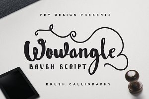 Wowangle Brush Script (Bonus Font)