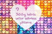9 shining hearts seamless patterns