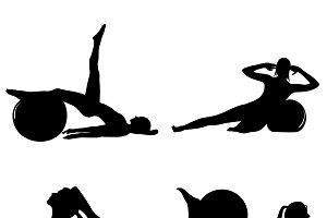 icons, sport, pilates, fitness