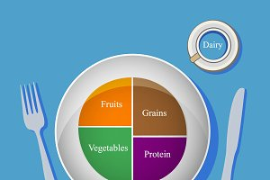 food, healthy, diet, vector