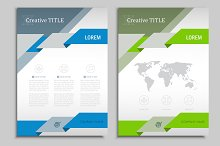 Vector brochure template. Vol.2