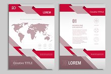 Vector brochure template. Vol.3