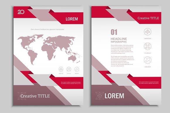 Vector brochure template. Vol.3 - Brochures
